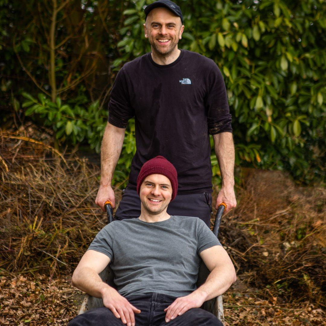 forking earth brothers, gardening pair